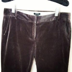 J. Crew - City Fit Charcoal Crushed Velvet Pants